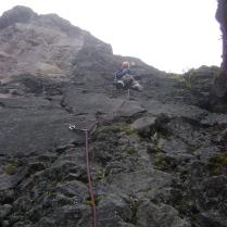 Pancho Arroba escalando en el Guagua Pichincha