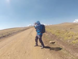 Henry Moya en camino a Ausangate, Cuzco Perú