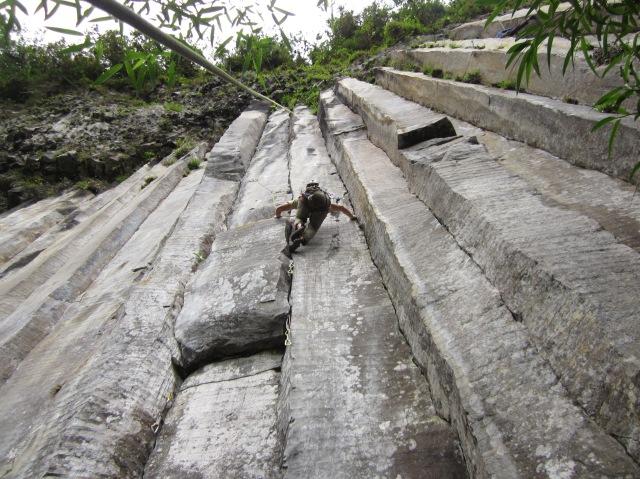 Escalada en Sigchos, Tangán.