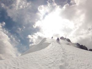 Escalando el Tinki, Cordillera Vilcanota, Cuzco Perú